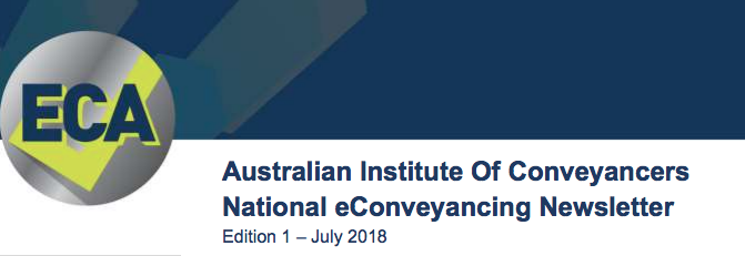 eConveyancing Australia – Edition 1