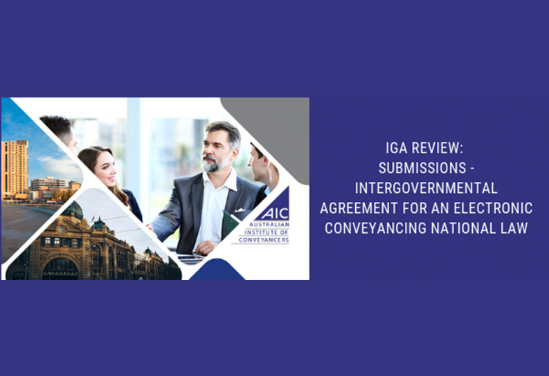 IGA Review: Submissions – Intergovernmental Agreement